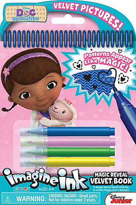 New Disney Junior Doc Mcstuffins Imagine Ink Magic Reveal Velvet Activity Book