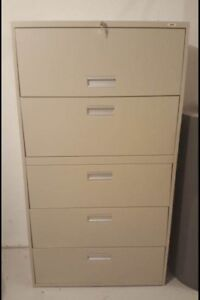 Staples Brand Lateral Filing Cabinet - 5 drawer
