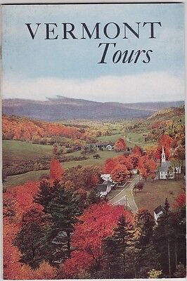 1955 Vermont Tours State Tourism Booklet