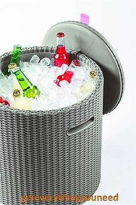 Garden Cool Box Stool Ice Bucket Bar Rattan Barbecue Party Patio Home Furniture