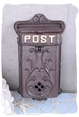 Retro letter mailbox antique style wall mailbox country style cast iron post box
