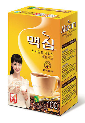 Korea Maxim 3 in 1 Instant Mix Coffee Mocha Gold Mild Arabica Coffee 100 sticks