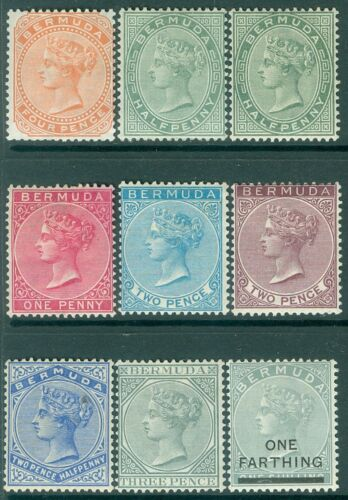 picture of BERMUDA : 1880-91. Nice group of all diff. MOG sgls between SG #20-30. Cat 185.