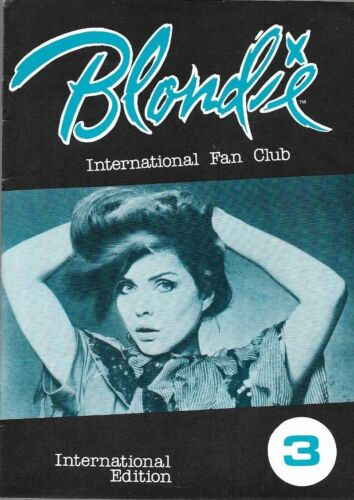 BLONDIE INTERNATIONAL Fan Club  #3 plus 6 Merchandise forms & Mailing envelope