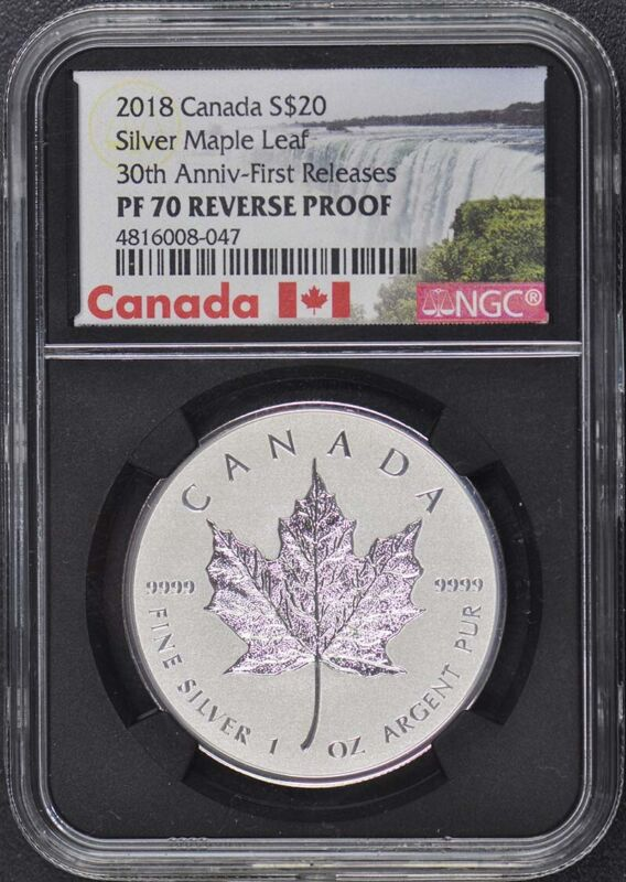 2018 Canada S $20 Silver Maple Leaf NGC PF70 Reverse Proof