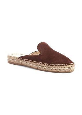 New $490 Prada Brown Suede Espadrille Loafer Mule 39/9