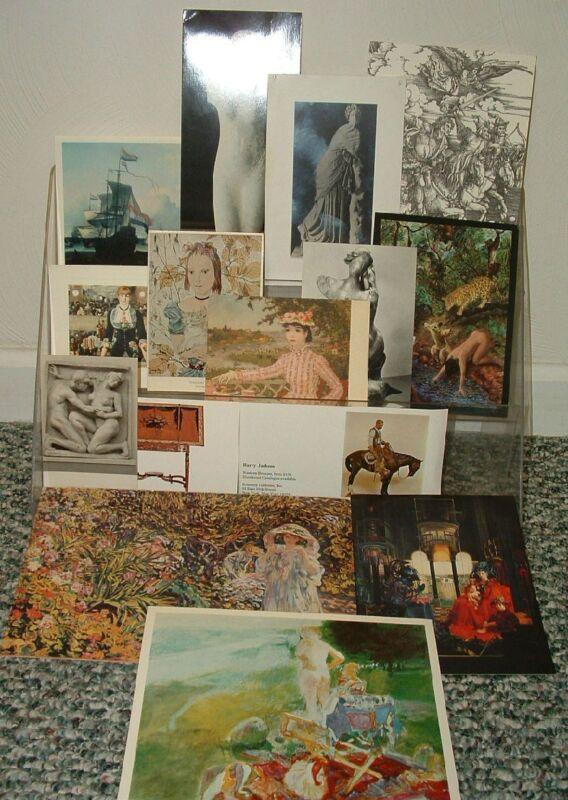 15 SCULPTURE & PAINTING POSTCARDS & CARD LOT Siren CHRYSLER ART MUSEUM