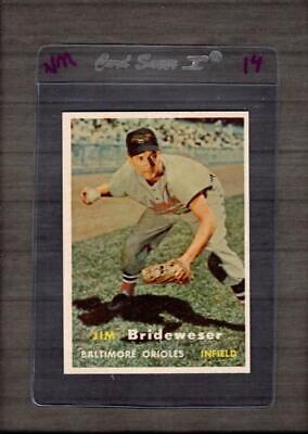 1957 Topps #382 Jim Brideweser NM Near Mint Orioles