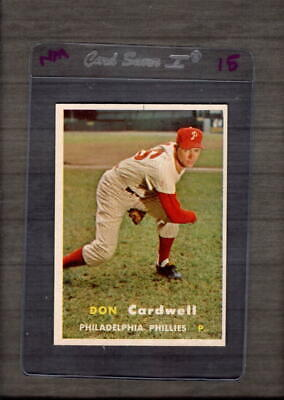 1957 Topps #374 Don Cardwell NM Near Mint RC Rookie Phillies