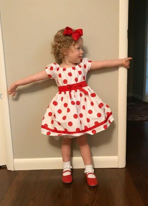 #23 Handmade Shirley Temple Polka Dot dress up/Halloween costume 3mo-12Y