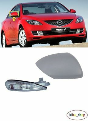 MAZDA 6 2007 - 2012 NEW WING MIRROR COVERS CAP WITH INDICATOR RIGHT O/S DRIVER