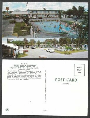 Old Florida Hotel Postcard - Orlando - Isbell's Motel and Restaurant