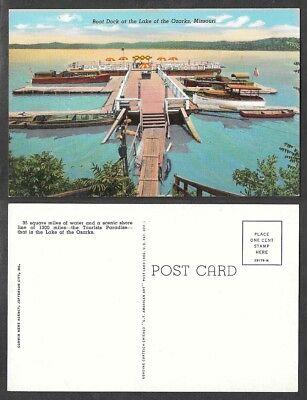 Old Missouri Postcard - Lake of the Ozarks - Boat Dock
