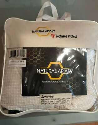 Natural Apiary Zephyros Protect - Bee Keeping Jack Size Adult Large Color White