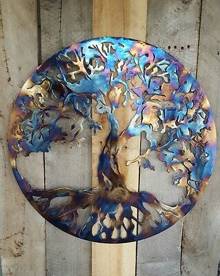 """Tree Of Life Wall Art Hanging Home Decor Rustic Primitive Country Kitchen 14"""""""
