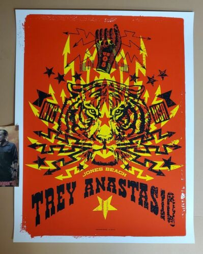 Ames Bros Trey Anastasio Wantagh Jones Beach Poster Print Signed Numbered Art - $129.99