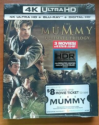 The Mummy Trilogy  2017  4K Ultra Hd Blu Ray
