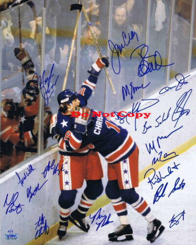 1980 Team Usa Olympic Hockey Signed  Autographed 8x10 Photo Rp