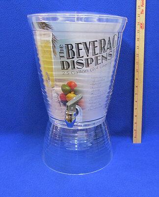 Beverage Dispenser Plastic CreativeWare 2.5 Gallons Spout Spigot Party Container