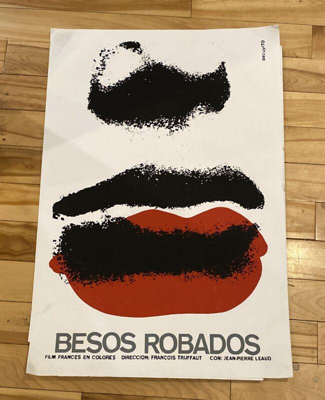 STOLEN KISSES Besos Robados Cuban movie poster 20x30 FRANCOIS TRUFFAUT Azcuy R88