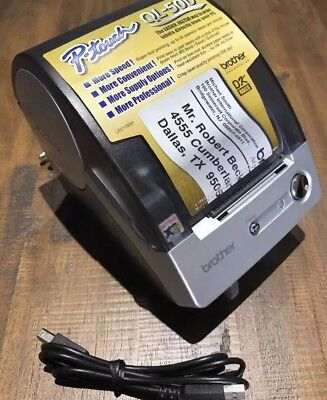 Brother P-touch Ql-500 Thermal Label Printer Very Nice Condition