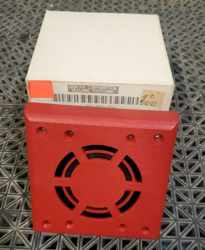QTY.2 WALL MOUNT HORN RED HG124R GENTEX FIRE ALARM