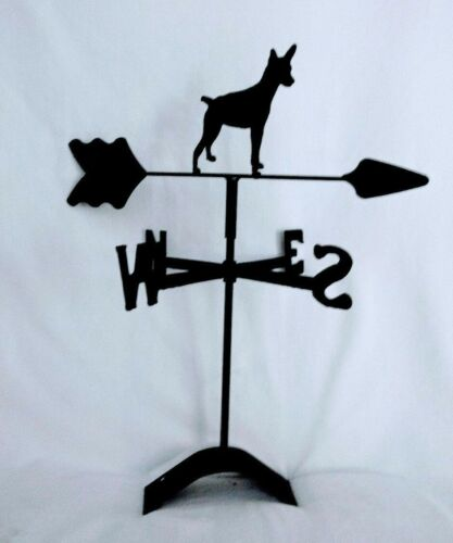 rat terrier roof mount weathervane black wrought iron look made in usa