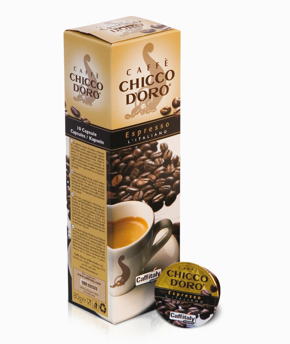 100 capsule caffè CAFFITALY CORPOSO INTENSO CREMOSO CREM GRAND ESPRESSO ITALIANO