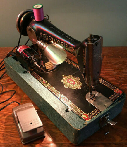 1910~Antique~Singer~Electric Sewing Machine~G Series Serial # G6952356 *LIGHTED