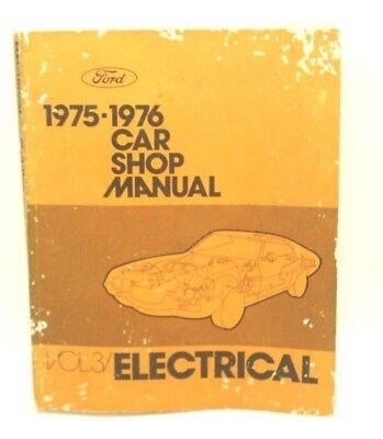 Vintage 1975 - 1976 FORD Electrical Vol 3 SHOP MANUAL Auto Car SC Repair Book