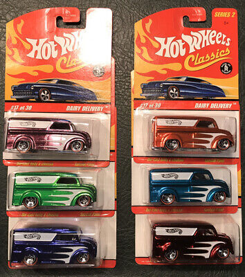Hot Wheels Classics series 2 Dairy Delivery set of 6 color variations