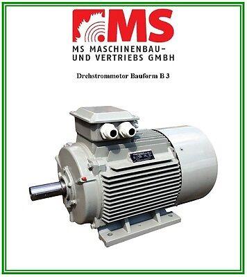 Elektromotor Drehstrommotor 0,37 KW, 230/400 V, 1500 U/min, Energiesparmotor IE1