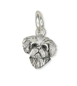 Maltese Dog Charm Jewelry Sterling Silver Handmade  ML16H-C