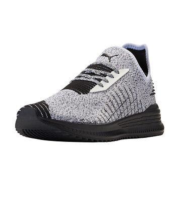 Puma Avid evoKNIT evo Knit Running Shoes White / Black Sz 10 36539210