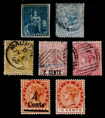 MAURITIUS, BRITISH: 19TH CENTURY CLASSIC STAMP COLLECTION VICTORIA BETTER CV $68