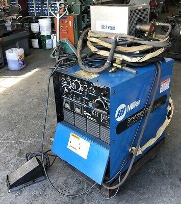 Miller Syncrowave 250 Cc-acdc Welding Power Source Welder W Gun Pedal Cooler