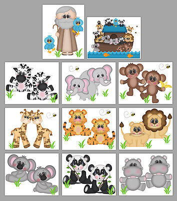 Noahs Ark Animal Nursery Decals Wall Art Mural Stickers Safari Jungle Room Decor