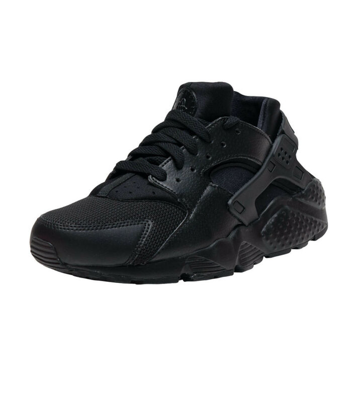 68a90a8e4458 NEW 654275-016 Kids  Nike Huarache Run (GS) Shoe!! BLACK BLACK-BLACK ...