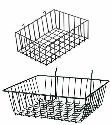 Slatwall And Pegboard Baskets Bundle - Set Of 4 Pegboard Baskets