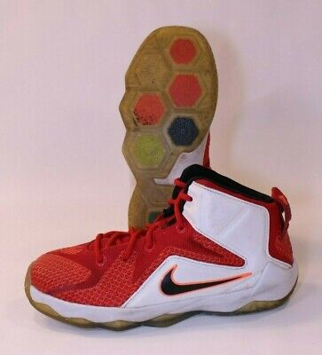 Nike Air Shoes Sneakers Youth 1Y GS Lebron James Soldier XII 12 Dunkman Red Kids