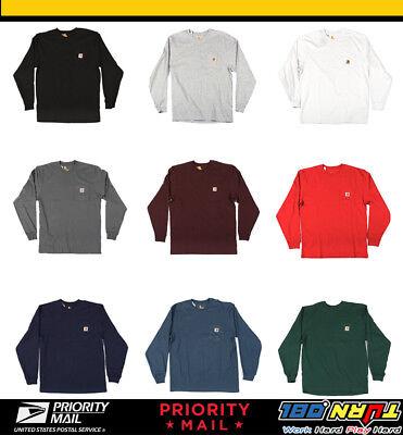 Carhartt Mens Workwear K126 Long-Sleeve Pocket T Shirt Heavyweight Jersey