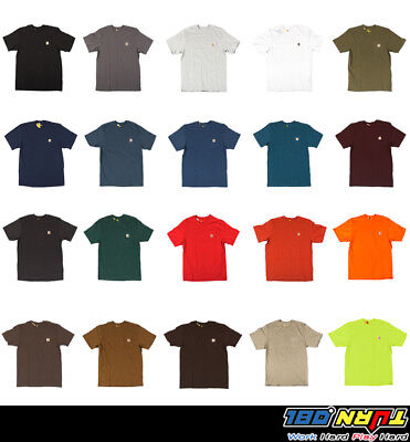 Carhartt WorkWear K87 Mens Pocket Basic T-shirt Heavyweight Jersey Knit Top