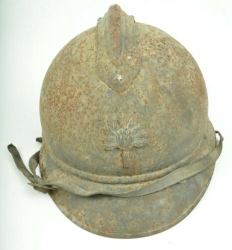 ORIGINAL COMPLETE FRENCH HELMET ADRIAN LEGION INFANTRY 15 WITH LINER