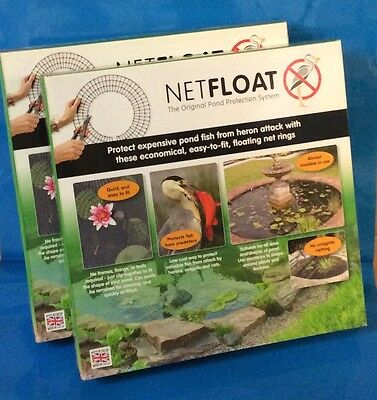 Net Float The Original Pond Protection System x 2 Boxes of 20 Ciricular rings