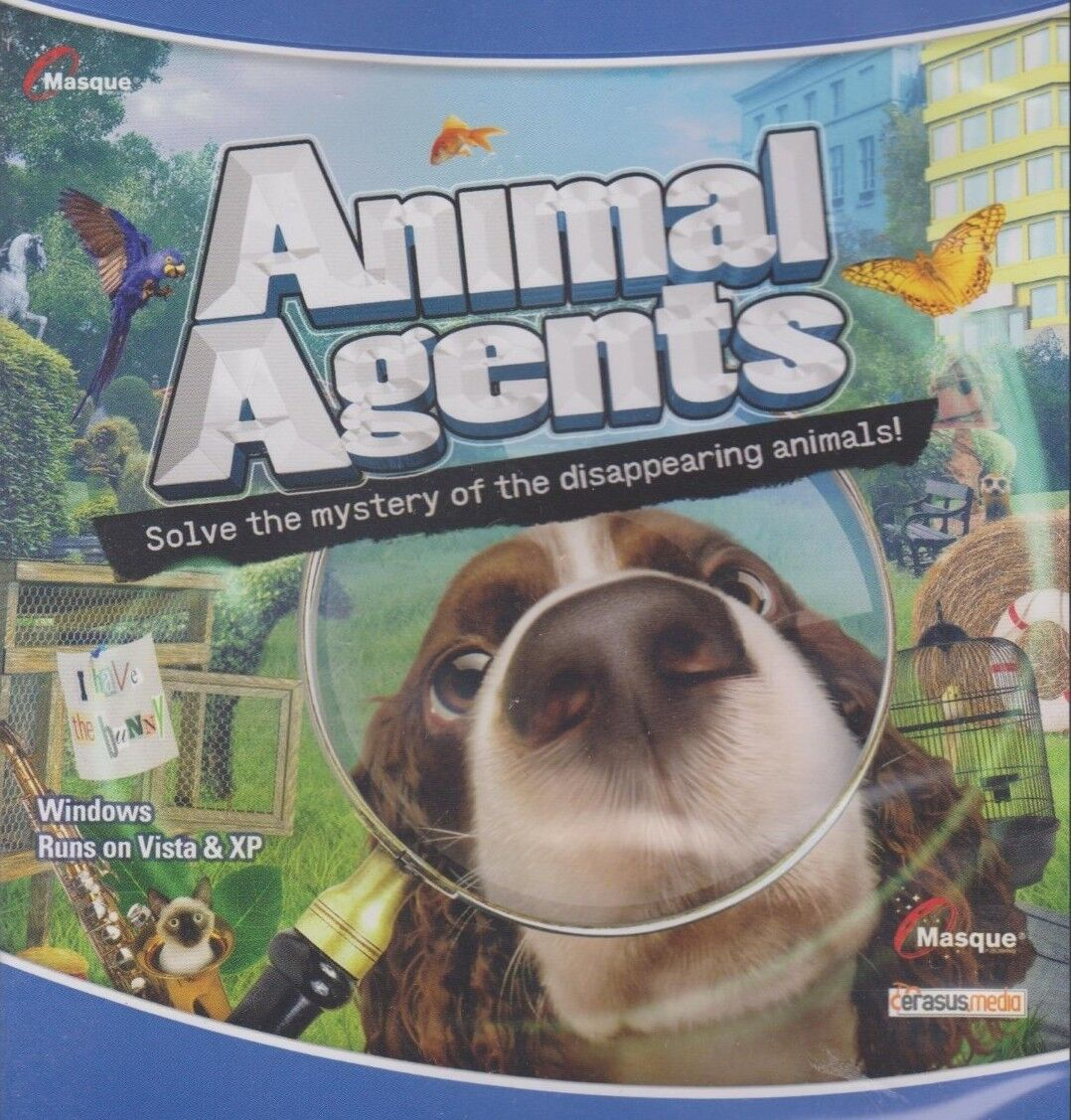 Computer Games - Animal Agents PC Games Windows 10 8 7 XP Computer seek & find hidden object NEW