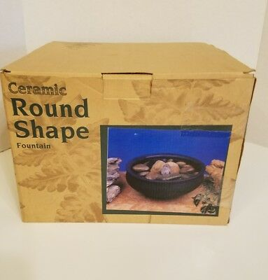 Ceramic Table Top Fountain - PHD Ceramic Round Shape Table Top Fountain NIB