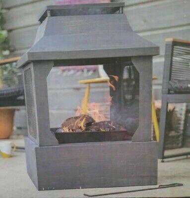 🔥BRAND NEW🔥La Hacienda Large Square Fireplace Fire Pit Log Burner - FREE 🚚💨
