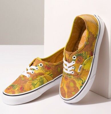 For sale NIB Vans Limited Vincent VAN GOGH Authentic (white / sunflowers) -More sizes add