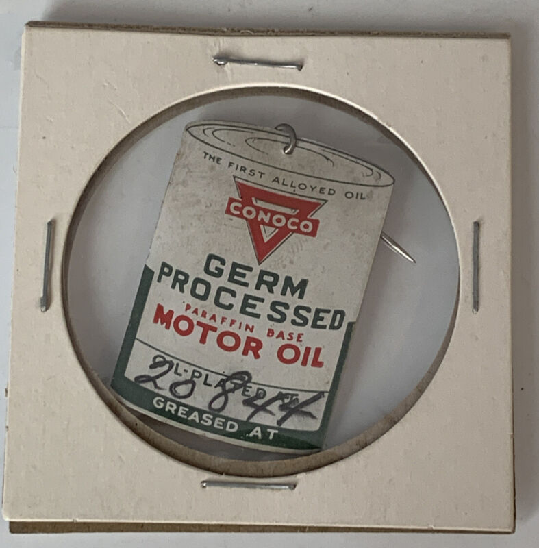 Conoco Motor Oil Change Grease Job Reminder Service Station Germ Processed 1780