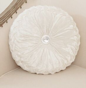 Round Chair Cushion / pillow  (light grey / cream)